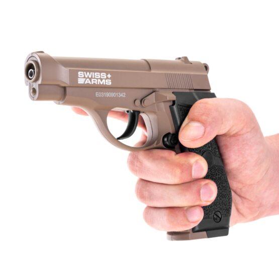 Pistola de Aire Swiss Arms P84 Full Metal 4.5mm Cybergun Tan 6