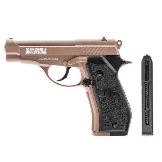 Pistola de Aire Swiss Arms P84 Full Metal 4.5mm Cybergun Tan 2