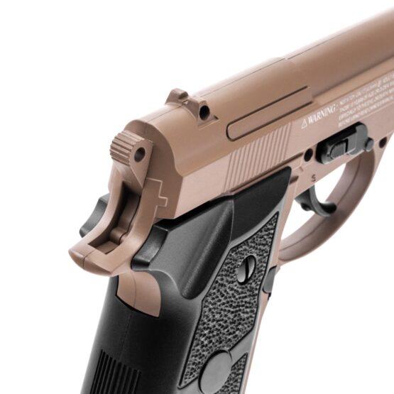 Pistola de Aire Swiss Arms P84 Full Metal 4.5mm Cybergun Tan 3