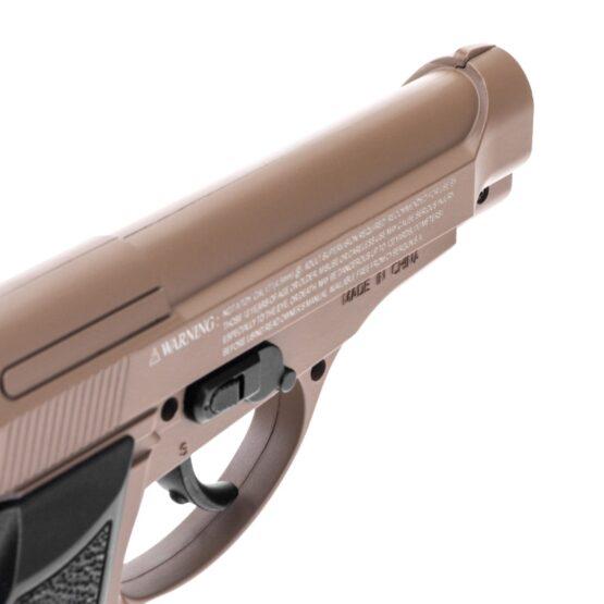 Pistola de Aire Swiss Arms P84 Full Metal 4.5mm Cybergun Tan 4