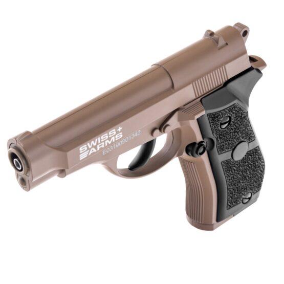 Pistola de Aire Swiss Arms P84 Full Metal 4.5mm Cybergun Tan 5