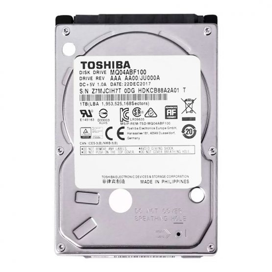 "Disco Duro Toshiba MQ04ABF100/ 1Tb/ 2,5""/ SATA III, 6 GB/s 1"