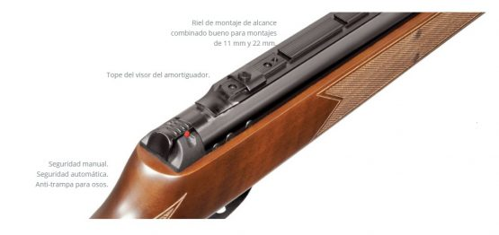 Rifle de Aire Hatsan Mod 95 (5,5 cal) Nitropiston 1000 FPS 3