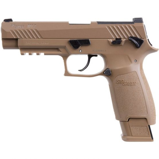 Pistola CO2 Sig Sauer M17 P320 ASP CAL.177 Coyote Tan 20RD FSP 1