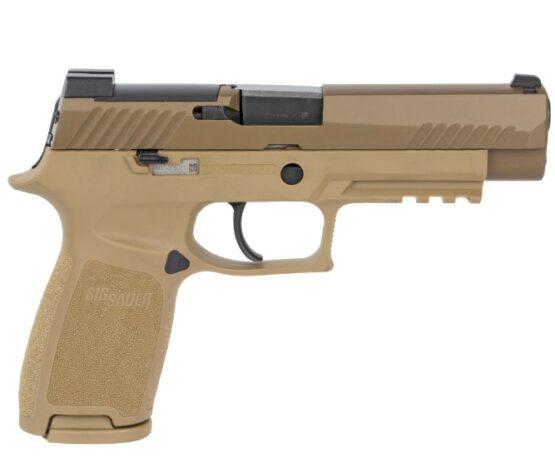 Pistola CO2 Sig Sauer M17 P320 ASP CAL.177 Coyote Tan 20RD FSP 2