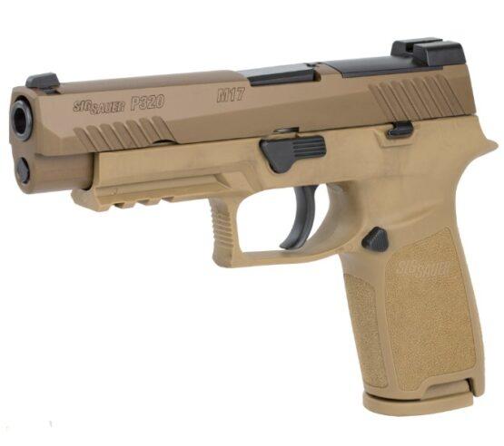 Pistola CO2 Sig Sauer M17 P320 ASP CAL.177 Coyote Tan 20RD FSP 3