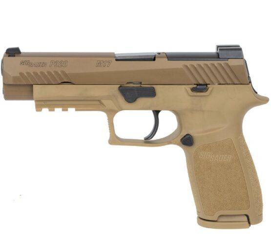 Pistola CO2 Sig Sauer M17 P320 ASP CAL.177 Coyote Tan 20RD FSP 4