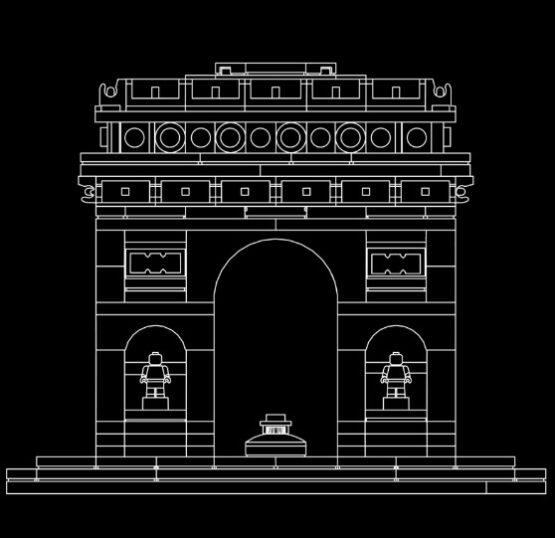 Arco del Triunfo Lego Architecture 386 Piezas 6
