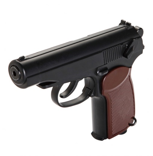 Pistola KWC Mod PM Full Metal 160 mm Cap. 13 tiros Semi Automatica CO2 6 mm 2