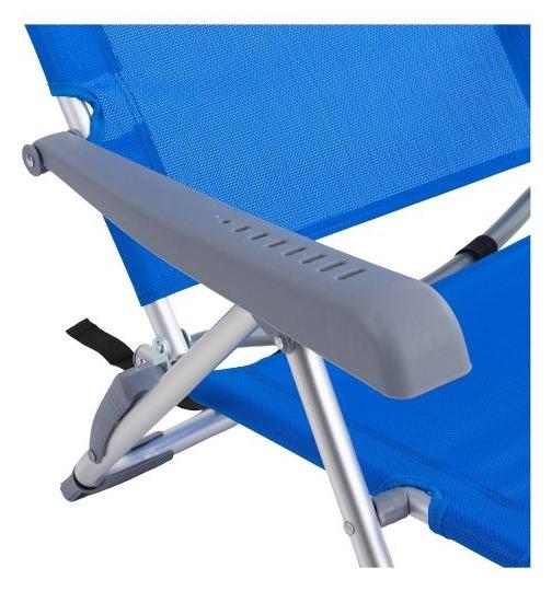 Reposera Plegable Klimber de Aluminio Azul 3