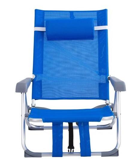 Reposera Plegable Klimber de Aluminio Azul 5