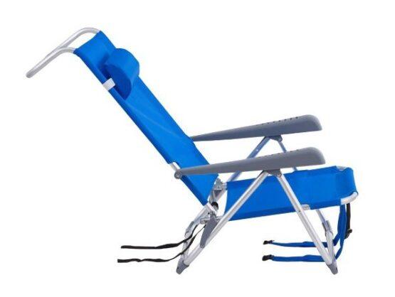 Reposera Plegable Klimber de Aluminio Azul 6