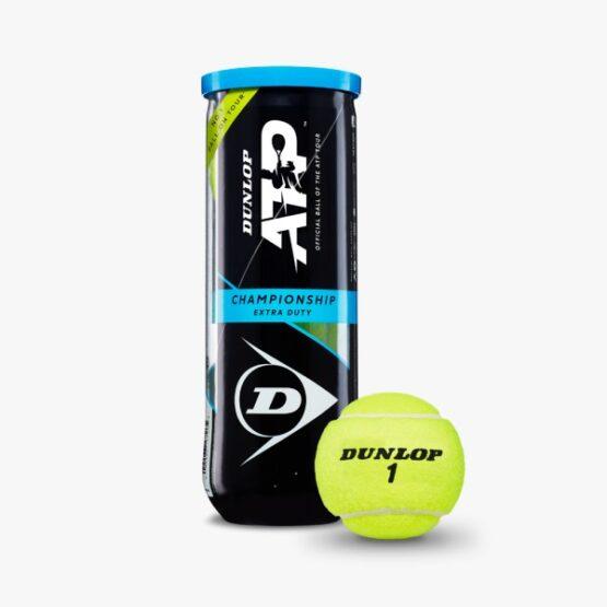 Set de 3 tubos Dunlop con 3 de Pelotas de Tenis Extra Duty 1