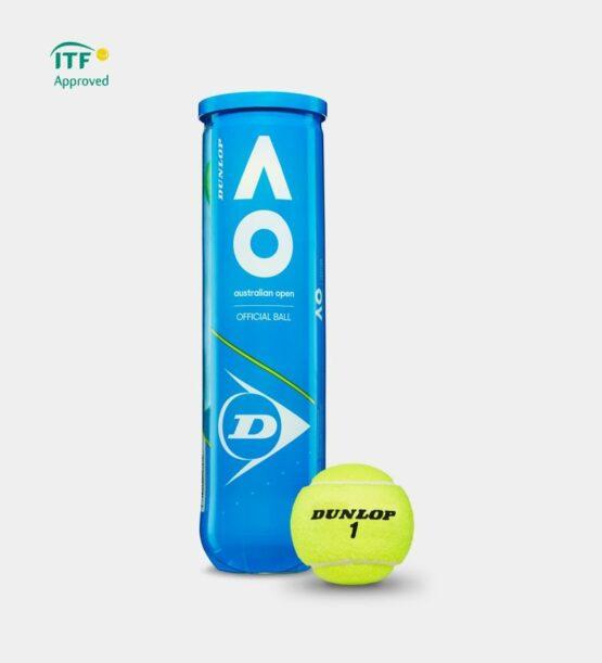 Set de 3 Tubos Dunlop con 3 Pelotas de Tenis Australian Open 2