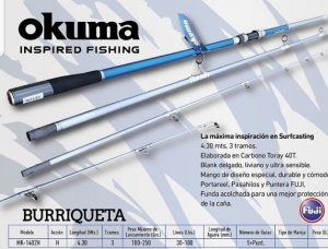 Caña Okuma Burriqueta 4.30mts 2T 2