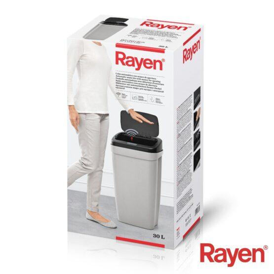 Papelera Rayen con Sensor de Apertura 30L 64X34X25CM 5