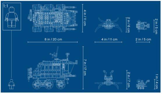 Lego Creator 3 en 1 Explorador de Space Rover 6