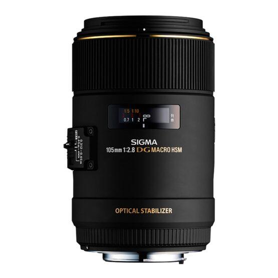 Lente Sigma Macro105mm F2.8 EX DG HSM OS 1