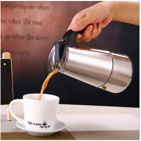 Cafetera Selecta de Acero Inoxidable 300Ml Filtro en Base 3