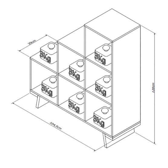 Estanteria Cubos en Escalera 2