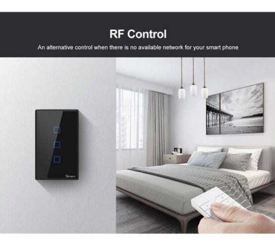 Interruptor De Pared Sonoff 3 Botones Wifi + Rf 2