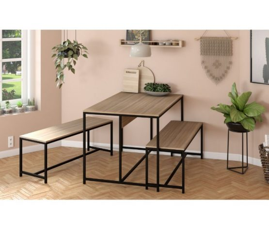 Juego de comedor Unsi Furniture Rustic 2