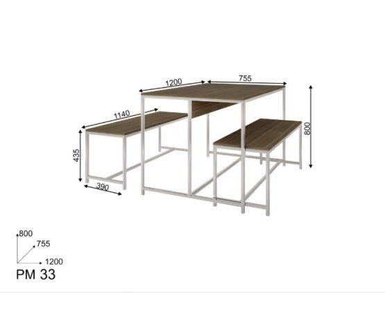 Juego de comedor Unsi Furniture Rustic 3