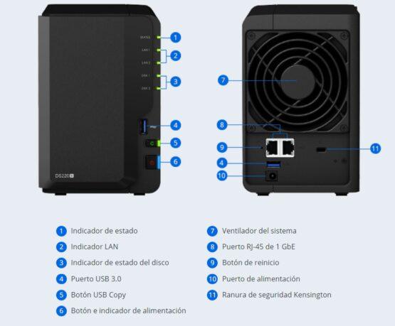 NASDiskStationDS220+ Synology /DDR4 /2Gb 2