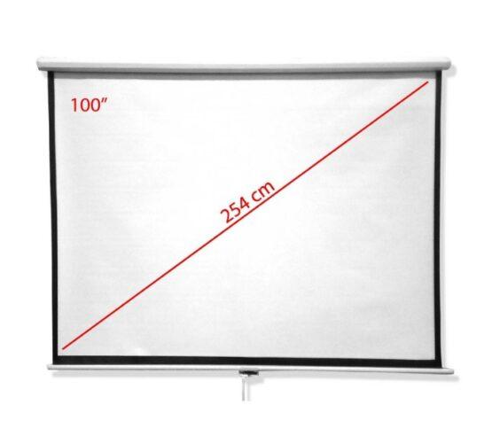 "Pantalla Oem Para Proyector Blanco Mate 100"" 2"