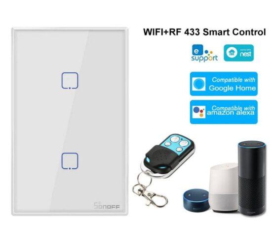 Interruptor de Pared Sonoff 2 Botones Wifi + Rf 2