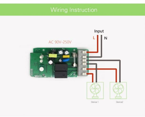Switch Sonoff Wifi 2 Canales 220vac 10a 3