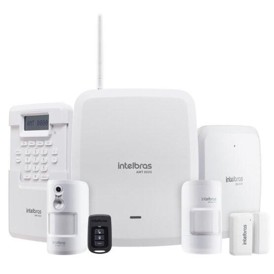 Alarma Central Monitoreada Intelbras AMT 8000 WIFI / BAT 3