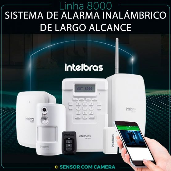 Alarma Central Monitoreada Intelbras AMT 8000 WIFI / BAT 4