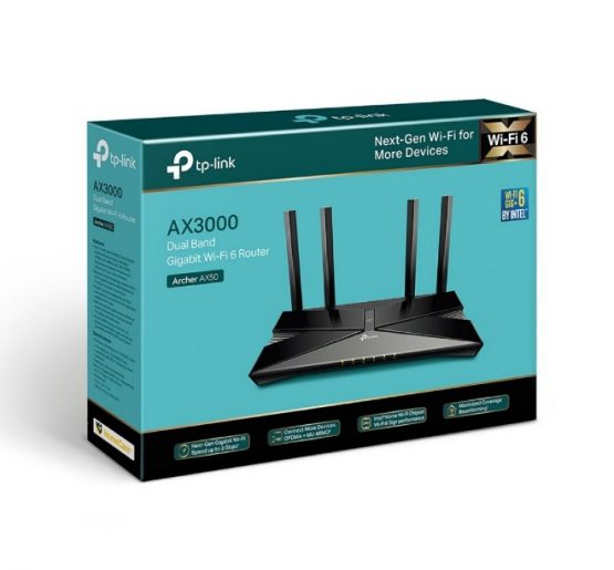 Router Tpl Archer Ax50 Wifi 6 Ax3000 Dual Band 5