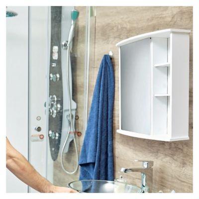 Botiquin para Baño con Espejo Blanco 58x66x22 cm 2