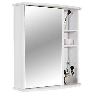 Botiquin para Baño con Espejo Blanco 58x66x22 cm 3