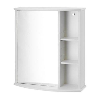 Botiquin para Baño con Espejo Blanco 58x66x22 cm 1