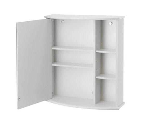 Botiquin para Baño con Espejo Blanco 58x66x22 cm 4