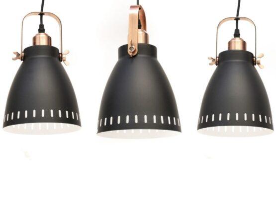 Luminaria De Techo Foco X3 Negra D17cm 1