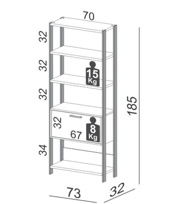 Estaneria Unsi Furniture Con Puerta Basculante 2