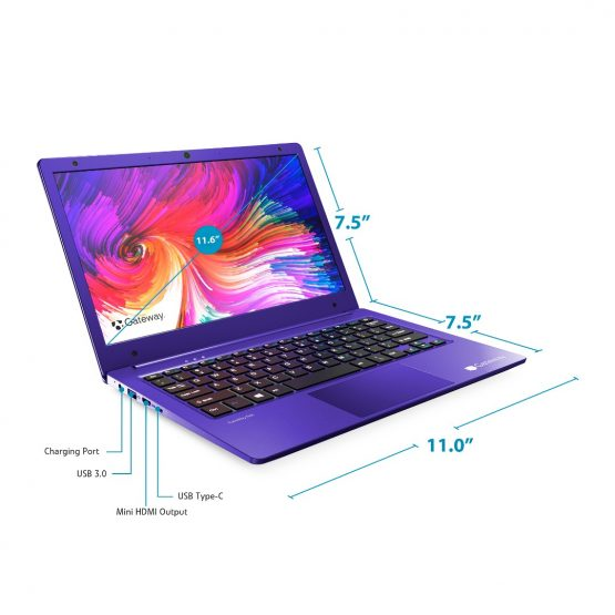 "Notebook Gateway GWTN116-1 / 11,6""/ A4-9120E/ 4Gb/ 64Gb/ Win10 REFAA 3"