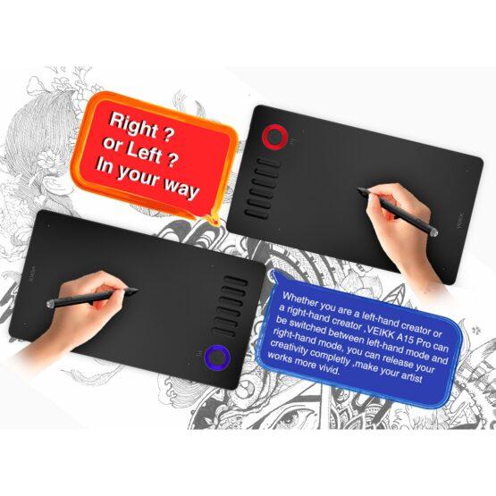 Tablet Digitalizadora Veikk Ambidiestro 10x6 5080lpi 4