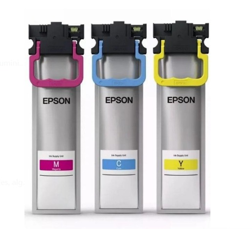 Tinta Epson Colores Amarillo/ Cyan/ Magenta WF-C579R Alta Capacidad 1