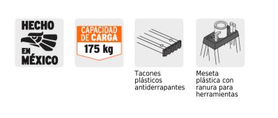 Escalera de Aluminio Truper con Reg. Anti y Bandeja 8 Peldaños 2.44 MT(175KG) EST-27 2