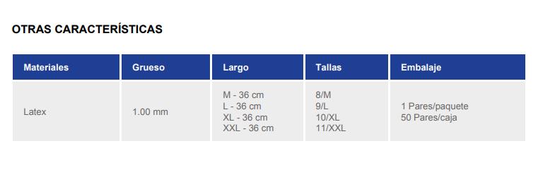 Guantes de Latex Natural Juba Dielect. Vde 1000V/Prueba 5000V L: 36 cm 3