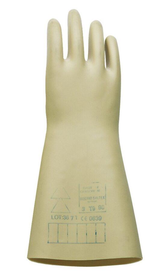 Guantes de Latex Natural Juba Dielect. Vde 1000V/Prueba 5000V L: 36 cm 2