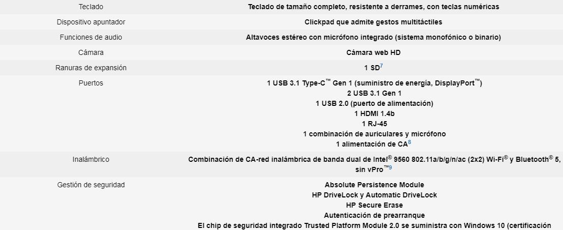 "Notebook HP 8ZN63LT#ABM / 15.6"" / I7 / 8GB / 1TB / Win10 Pro 11"