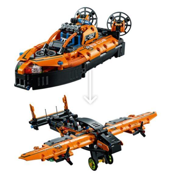 Set Lego Technic Aerodeslizador de Rescate 2 en 1 4