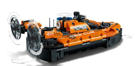 Set Lego Technic Aerodeslizador de Rescate 2 en 1 5