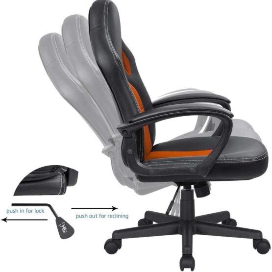 Silla Gamer Meetion Black + Orange MT-CHR05 7